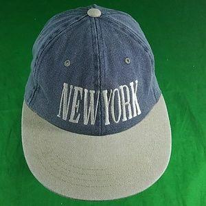 New York Hat Yupoong Dad Strapback Flat Bill Cap